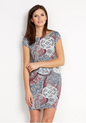 Sukienka 1454 (z różowym)