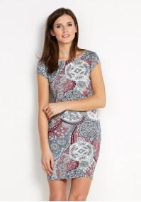 Sukienka 1454 (z szarym)