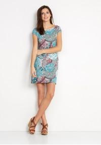 Sukienka 1454 (z zielonym)