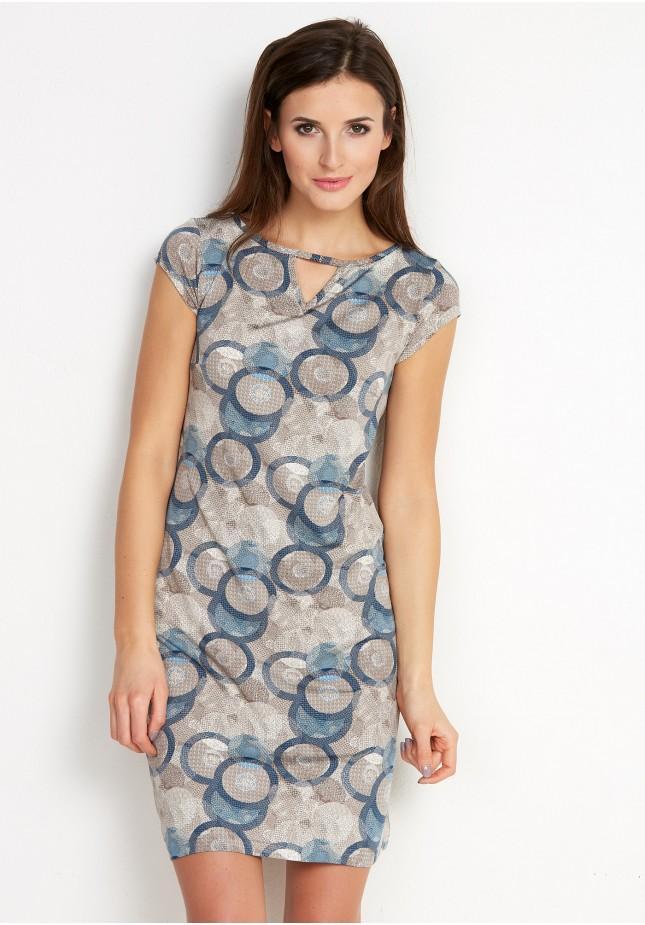 Sukienka 1463 (z niebieskim)