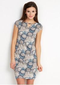 Lekka Sukienka w niebieskie koła