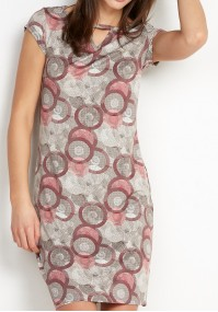 Dress with red circles