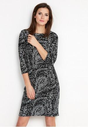 Klasyczna czarno-biała Sukienka