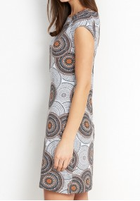 Sukienka 1474 (z brązowym)