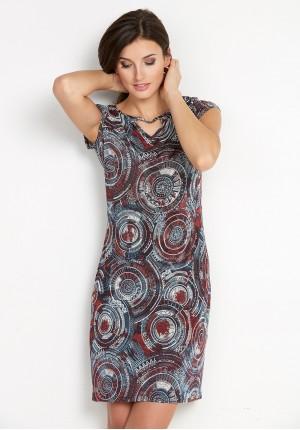 Sukienka 1493 (z bordowym)