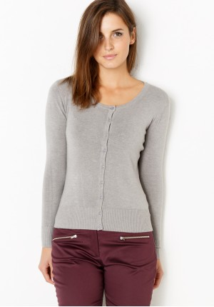 Klasyczny Szary Sweter