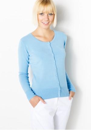 Klasyczny Błękitny Sweter
