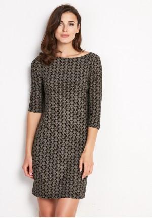 Sukienka 1292 (z brązowym)