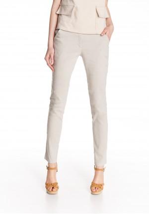 Lniane jasne Spodnie