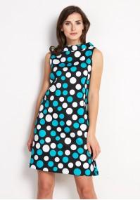 Sukienka 1146 (turkusowe kropki)