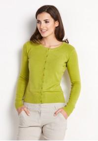 Klasyczny jasnozielony Sweter