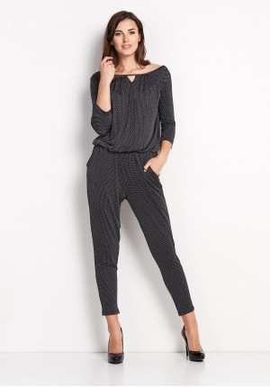 Black Jumpsuit with dots