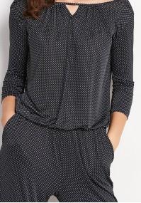 Black Jumpsuit with dots