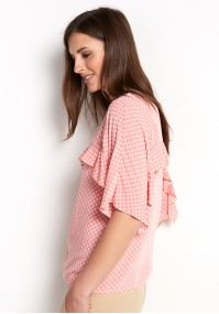Salmon Blouse with frill
