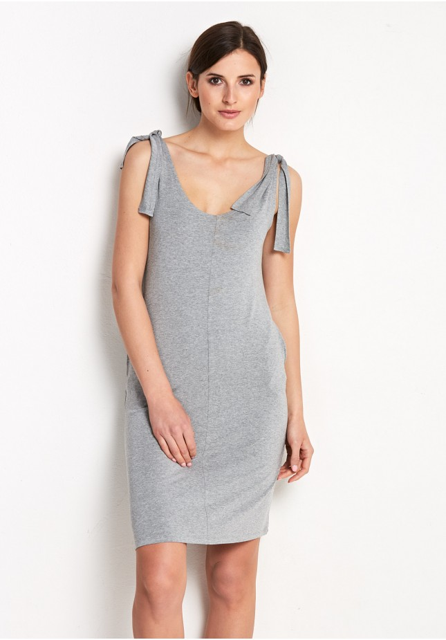 Grey Dress with binding