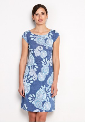 Sukienka 1440 (z turkusem)