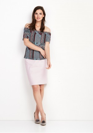 Blouse with a Spanish neckline