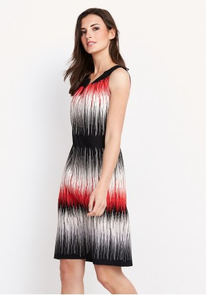 Shaded striped Dress