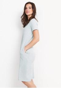 Dzianinowa sukienka w paski