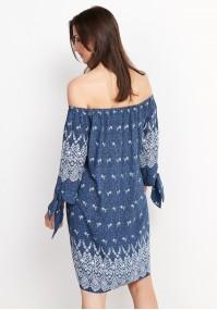 Krótka luźna denimowa sukienka