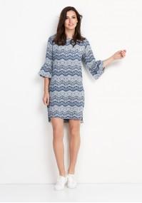 Niebiesko-biała Sukienka