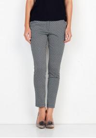 Bawełniane wzorzyste Spodnie