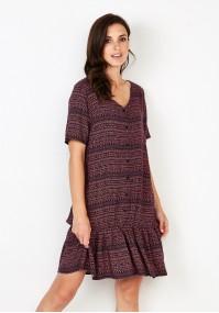 Wiskozowa Sukienka z guzikami