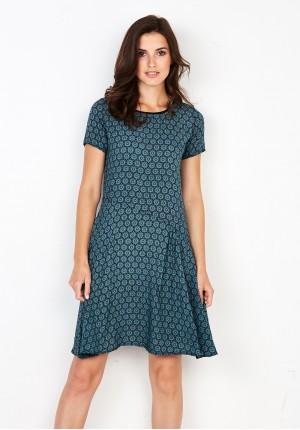 Wiskozowa zielona Sukienka