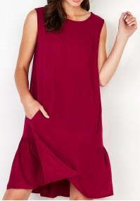 Sukienka 1099 (amarantowa)