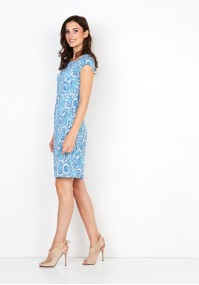 Sukienka 1410 (z turkusem)