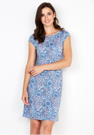 Dress with pastel circles