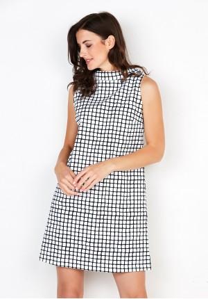 Black and white chequered Dress