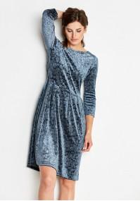 Welurowa metaliczna Sukienka