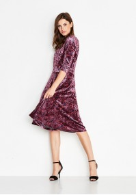 Velor burgundy Dress