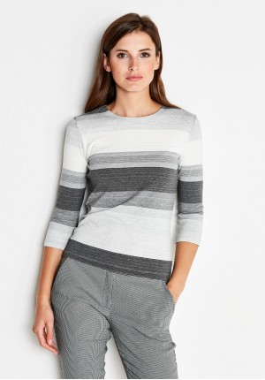 Striped Grey Blouse