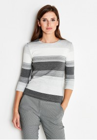 Striped Grey Blouse