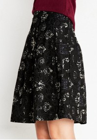 Dark Skirt with a bright pattern
