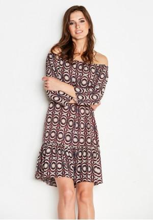 Sukienka 1152 (z bordowym)