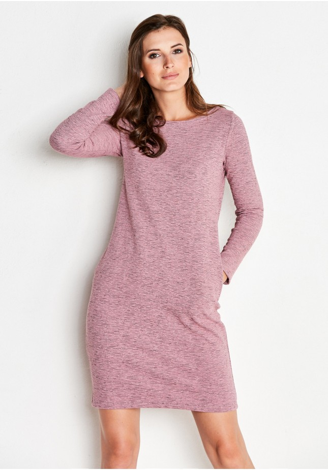 Pink Ribbed Dress