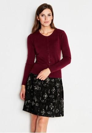 Klasyczny bordowy sweter