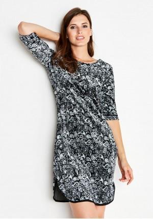 Velor Dress with a slit