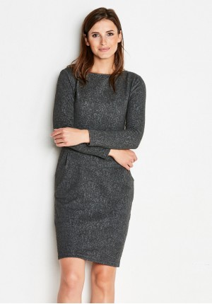 Grey Dress with Pockets