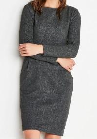 Grey Dress with Pockets