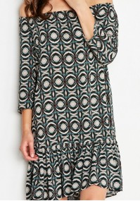 Sukienka 1152 (z zielonym)
