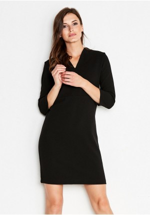 Black Dress with V-necked