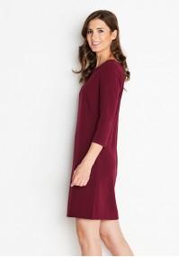 Klasyczna bordowa Sukienka