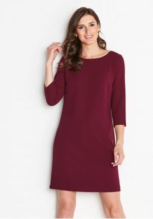 Dress 1739 (burgundy)