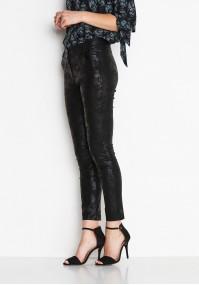 Black waxed Pants