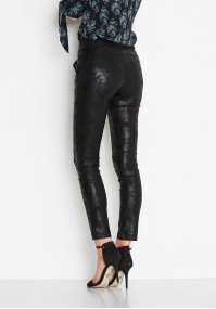 Black waxed Pants