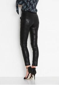 Czarne woskowe Spodnie